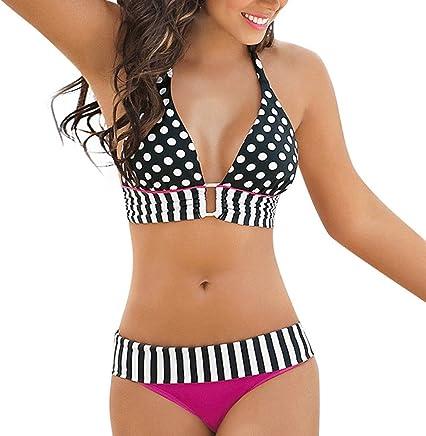 Darringls Costumi da Bagno Donna Bikini a Triangolo Sexy Costumi Donna Mare Due Pezzi Push Up Donna Interi Taglie Forti Bikini 2019 Striscia Costume Bikini Mare Spiaggia Estate - Confronta prezzi