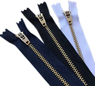 Over Kleshas Jeans Metal Zipper (6 Zippers/Pack= Navy 2, Black 2, White 2) 4