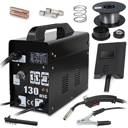 Gas Less Flux Core Wire Welder Welding Machine Cooling Fan 110V MIG-100//MIG-130