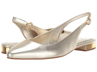 Lilly Pulitzer Ella Slingback Flat (Gold Metallic) Women