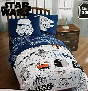 Star Wars Classic Episode VII Twin Super Soft Microfiber Comforter and 3 Piece Sheet Set