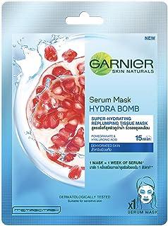 Garnier Skin Naturals, Hydra Bomb, Face Serum Sheet Mask (Blue), 28g
