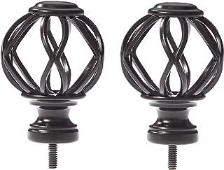 AmazonBasics Lattice Cage Curtain Rod Finials, Set of Two, Bronze