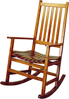 Wood Rocker Arm Chair Warm Brown