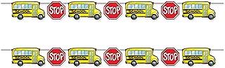 Beistle 53435 School Bus Streamers 2 Piece, 6