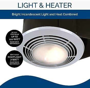 Explore Heat Vent Lights For Bathroom Amazon Com
