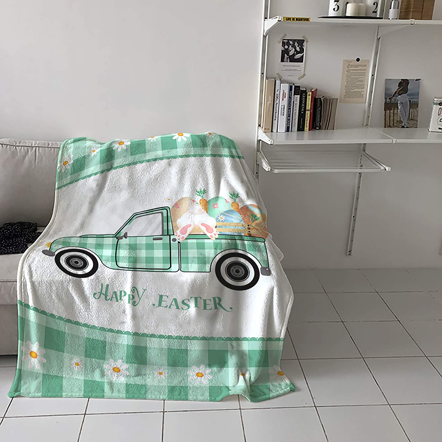 Flannel Regular store Fleece Throw Blanket for Couch Easter or Low price Bed Happy Sofa