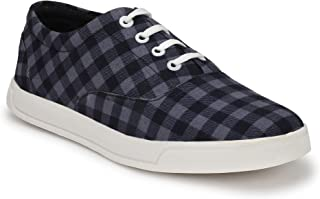 HEEDERIN Men's Blue Mesh Lace up Perfect Style Sneaker 8 UK