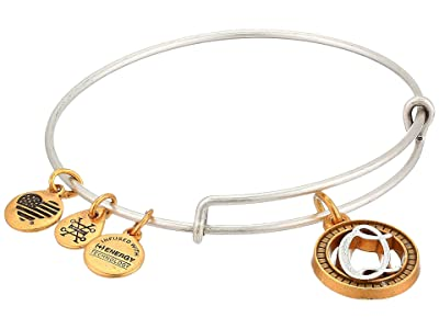 Alex and Ani Initial Q Charm Bangle (Two-Tone) Bracelet