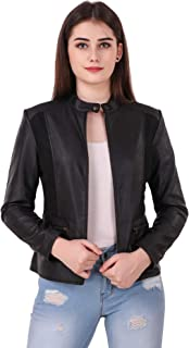 Leather Retail® Black colour Spanish Style Faux Leather Jacket For Woman
