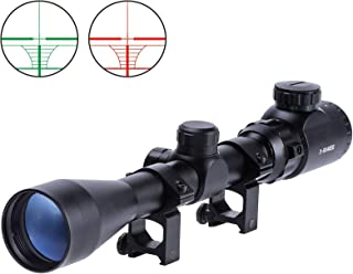 Domingo Petrucci 3-9X40 Red Green Rangefinder Illuminated Optical Rifle Scope 5 Brightness adjustments Scope for Hunting Water Proof Anti-Fog Lens with 20mm mounts