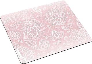 JUNIWORDS Mousepad/Mauspad mit Motiv'Weiße Schnörkel rosa'   ideales Geschenk zum Geburtstag, Weihnachten u.v.m.