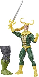 """Marvel Legends Series Loki 6"""" Collectible Marvel Comics Action Figure Toy for Ages 6 & Up with Accessory & Build-A-Figurep..."""