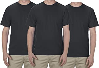 Alstyle AAA Men's Crew Neck Short Sleeve T-Shirt 3-Pack (Small~6XL)