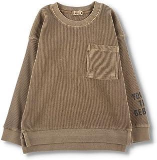 [ブランシェス] ポケット付きワッフル 長袖 Tシャツ 男の子 キッズ ボーイズ ロンT 無地