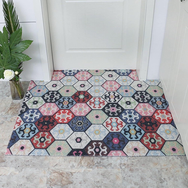 Plastic Doormats, PVC Non-Slip Wear-Resistant Floor Mat, Easy Care, Entrance Bathroom Kitchen Balcony Doorway Outdoor-B 16x47inch