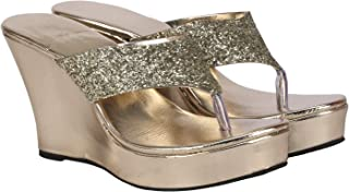 Misto Women and Girls Casual Formal Wedge Heel Slippers