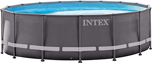 Intex Ultra Frame Pool Set, 16-Feet by 48-Inch, Gray