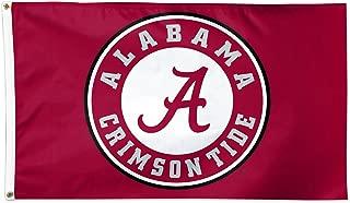 Wincraft Alabama Crimson Tide Circle Logo Roll Tide NCAA Football 3 x 5 Foot Flag