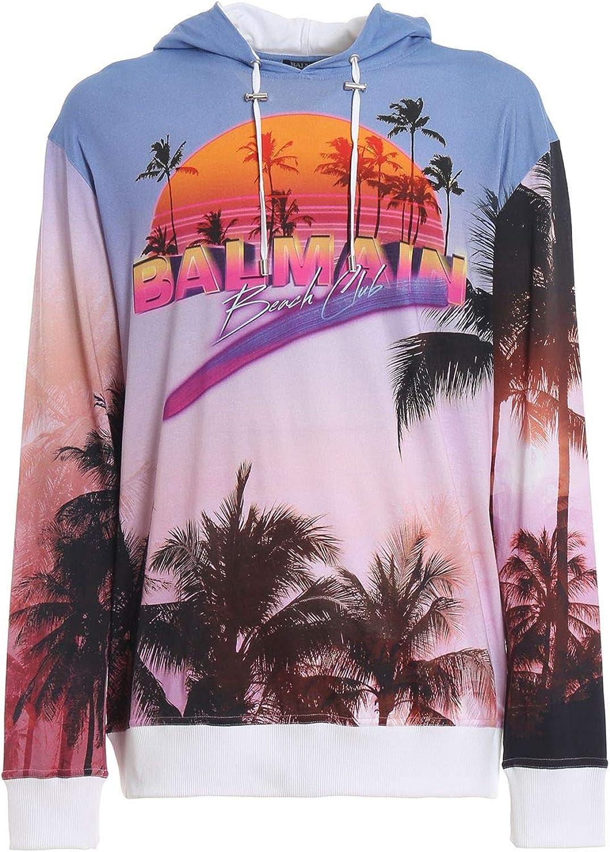 Balmain Herren RH13247I033AAA Multicolour Baumwolle Sweatshirt