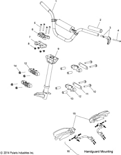 Polaris ProTaper Handguard Mounts, Genuine OEM Part 2878175, Qty 1