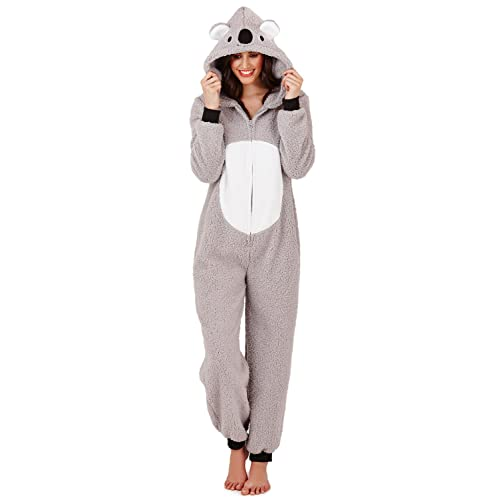 LD Outlet Womens Fairisle Onesie Full Length Fleece Onesies Hooded All in One  Jumpsuit Bathrobe Pyjamas 9bb40b6ea