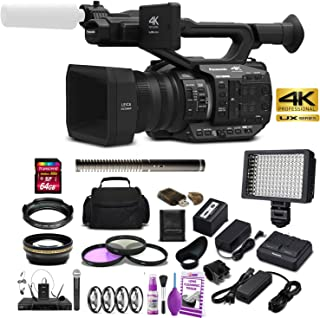 with SDC-26 Case Panasonic PV-D601 Camcorder External Microphone Vidpro XM-AD5 Mini Pre-Amp Smart Mixer with Dual Condenser Microphones for DSLR/'s Video Cameras and Phones