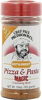 Chef Paul Prudhaomme's Pizza & Pasta Magic Seasoning - No Added Salt 3.6oz Bottle (Pack of 3) Choose Flavor Below (Hot & Sweet)