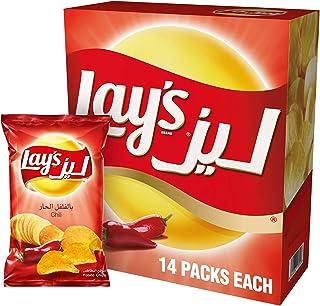 Lay's Chili Potato Chips 23 gm x 14