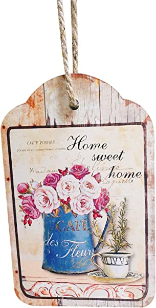 LOHAS Home Fun Wood Plank Design Hanging Sign Rustic Decor Sweet Home