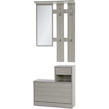 Miroir Vide Poche et Meuble à Chaussures Design Moderne