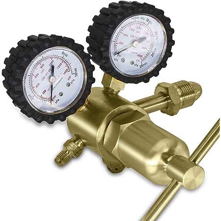 Harris Nitrogen Purging Regulator 25GX-500-580 HVAC WITH 10 Foot High Pressure Hose and FREE Teflon Tape