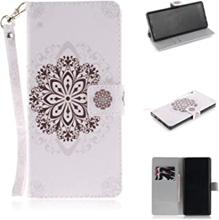 Galaxy Note 9 Case,ZERMU Shockproof Kickstand Feature Painted Pattern Premium PU Leather Magnetic Wallet Purse Case with Credit Card Holder/Slots and Wrist Lanyard Cover for Samsung Galaxy Note 9