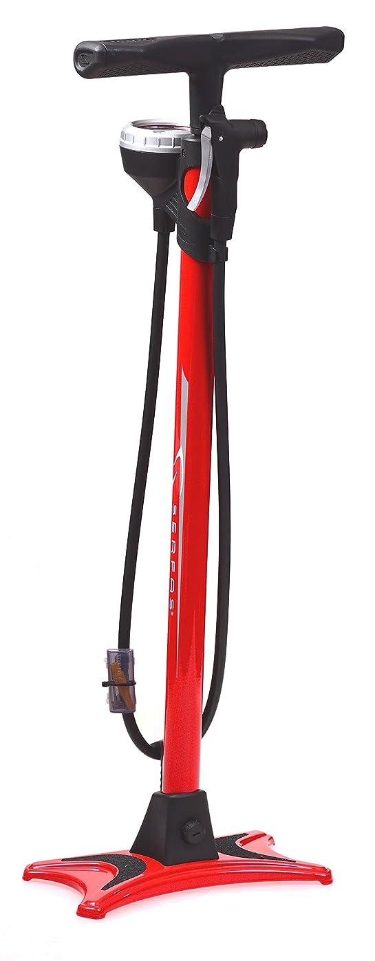 ブルゴーニュ分解する処理SERFAS(サーファス) 自転車 高圧空気入れ エアフロアポンプ 仏式/米式/英式/ボール/ボートバルブアダプター エアゲージ ロードバイク MTB FP-200SE ロングストローク