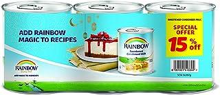 Rainbow Sweetened Condensed Milk, 397g Tin, Pack of 3