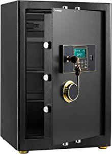 Safe Box, Security Safe with Programmable Electronic Keypad, Cabinet Safes Lock Box for Home Office Hotel Business 3.08 Cubic Feet, Money Cash Jewels Documents Passport Safe, Large, Black