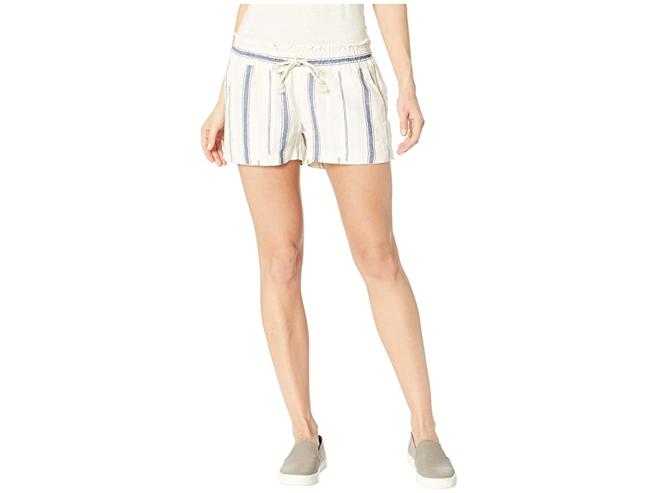 Roxy Oceanside Shorts Yarn-Dye (Marshmallow/Tea Party Stripe) Women