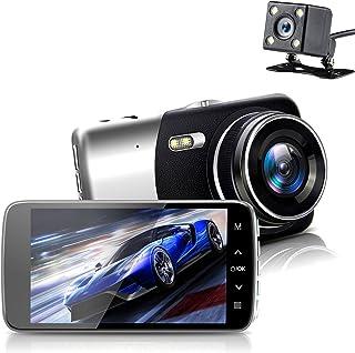 On Dash Camera, Sendowtek Overhead Video Car Camcorder Full HD 1296P Mini Dashboard Cam Vehicle Recorder IPS Screen with G...