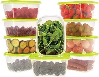 Oursson Ensemble de boîtes de Rangement Alimentaires-À Usage Multiple-Lot de 10 récipients Alimentaires en Plastique sans ...