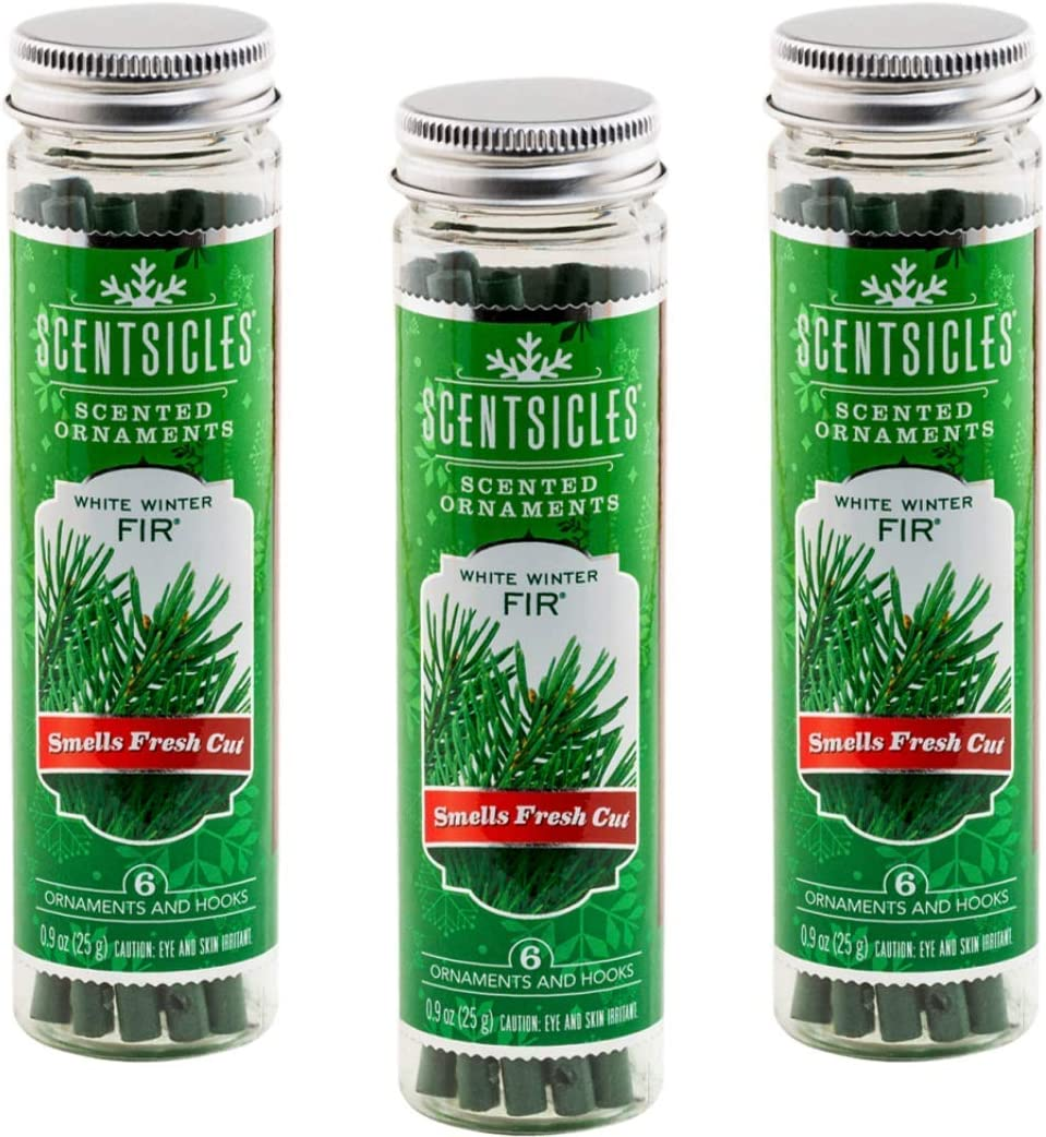 Scentsicles White Winter Fir Scented Ornaments Now on sale Recommended with - Hooks 3 Bo