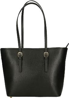 Aren - Shoulder Bag Borsa a Spalla da Donna in Vera Pelle Made in italy - 34x23x12 Cm