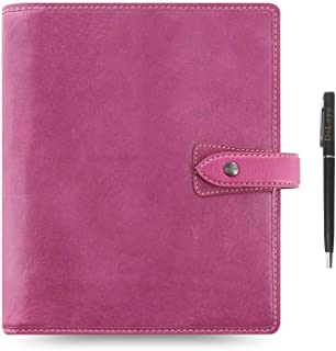 $149 » Filofax Malden Leather Organizer Agenda Calendar Bundle with DiLoro Ballpoint Pen (Fuchsia 2021 with Pen, A5 Paper Size 8....
