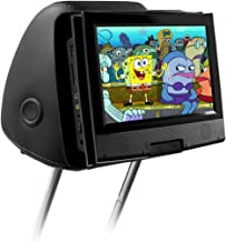 Qenker portable dvd player headrest mount for swivel and flip style portable DVD player from 7 to 11 inch - black