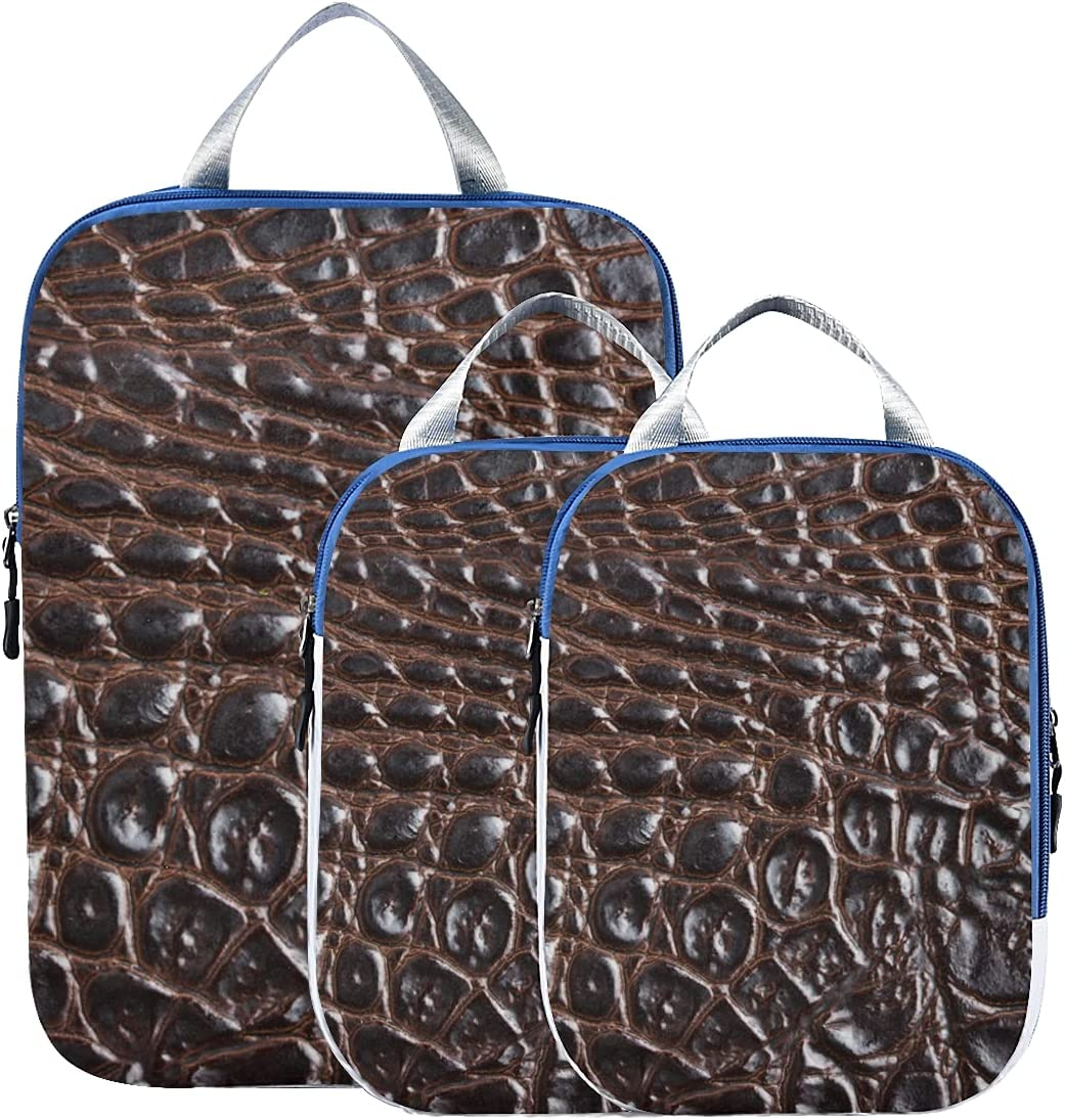 Travel Rare Max 60% OFF Accessories Packing Cubes Skin Crocodile Printed Fashion