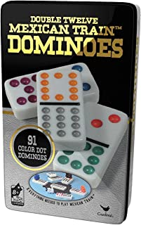 Cardinal Double 91 Color Dot Dominoes in Collectors Tin (Styles May Vary)