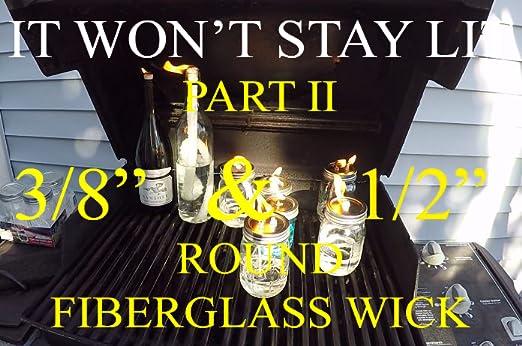 Emergency Lighting Romantic Evening Mood Light Wick It Up With Us Round Fiberglass Wick Kerosene Oil Lamp Lantern Replacement Wicks Torch Wine Bottle Candle DIY 1//2 x5 Five Feet By Half Inch 12