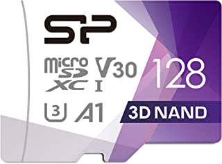 Silicon Power 128GB Superior Pro MicroSDXC UHS-I (U3) Memory Card with Adapter - 100/ 80MB/s R/W, V30 4K A1, High Speed Mi...