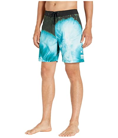 Hurley 18 Phantom Clark Little Drone Boardshorts (Blue Gaze) Men