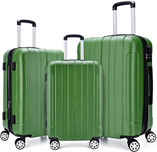 2c5db4243 Fochier Luggage 3 Piece Set Expandable ABS+PC Hard Shell Spinner Suitcase  Lightweight(20