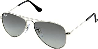Jr. Kids Aviator Kids Sunglasses (RJ9506) Silver Shiny/Grey Mirror - Non-Polarized - 50mm